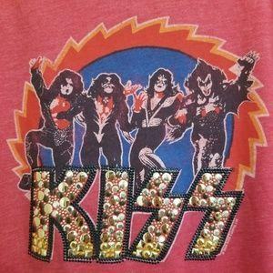 Junk Food Clothing Tops - NWT Kiss Bling Graphic Band T Shirt M
